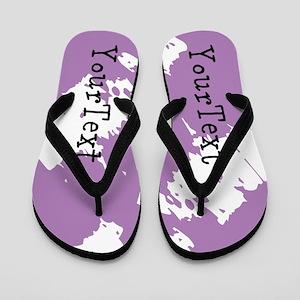 f15079047 Purple Birthday Flip Flops - CafePress