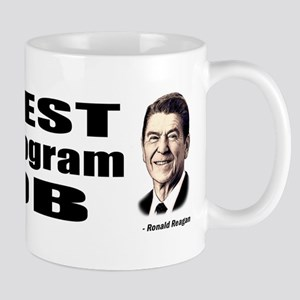 Reagan Quote - Best Social Program Job Mug