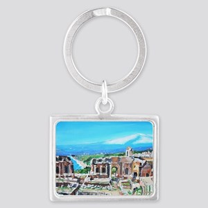 The Greek Theater  Ruins Landscape Keychain