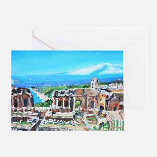 The Greek Theater  Ruins Greeting Card