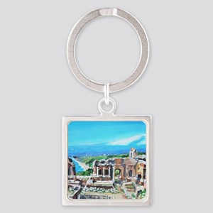 The Greek Theater  Ruins Square Keychain