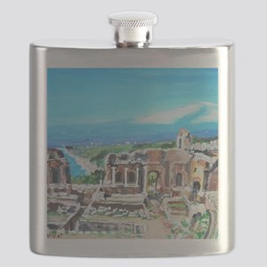 The Greek Theater  Ruins Flask