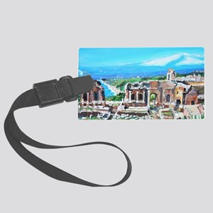 The Greek Theater  Ruins Large Luggage Tag