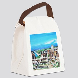 The Greek Theater  Ruins Canvas Lunch Bag
