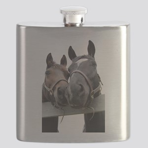 Kissing Horses Flask