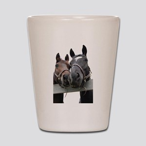 Kissing Horses Shot Glass