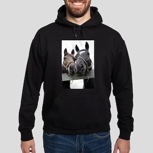 Kissing Horses Hoodie (dark)