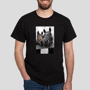 Kissing Horses Dark T-Shirt