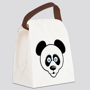 The Happy Panda Bear Canvas Lunch Bag
