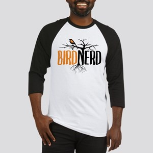 Bird Nerd (Black and Orange) Baseball Jersey