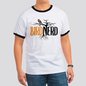 Bird Nerd (Black and Orange) T-Shirt