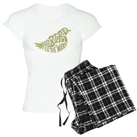 The Bird is the Word (light green) Pajamas