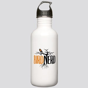 Bird Nerd (Black and Orange) Water Bottle