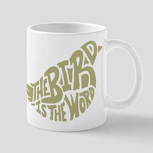 The Bird is the Word (light green) Mug