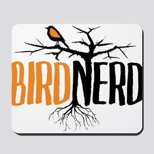 Bird Nerd (Black and Orange) Mousepad
