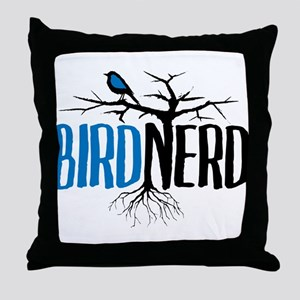 Bird Nerd Throw Pillow