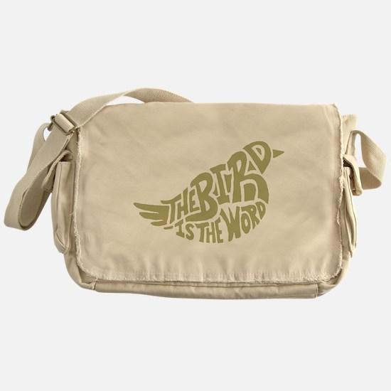 The Bird is the Word (light green) Messenger Bag