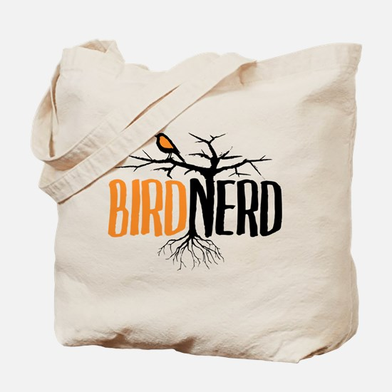 Bird Nerd (Black and Orange) Tote Bag