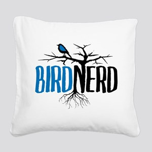 Bird Nerd Square Canvas Pillow
