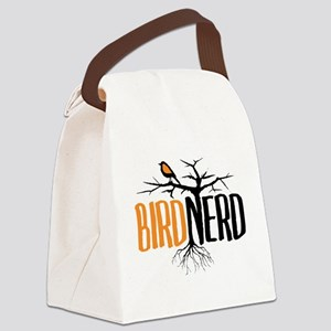 Bird Nerd (Black and Orange) Canvas Lunch Bag