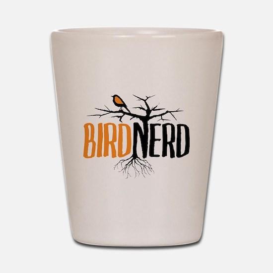 Bird Nerd (Black and Orange) Shot Glass