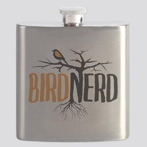 Bird Nerd (Black and Orange) Flask