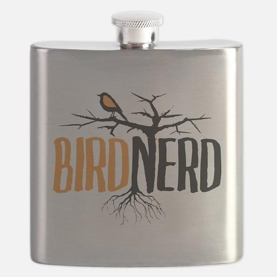 Bird Nerd (Black and Orange) Flask