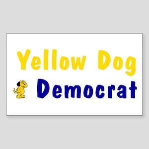 "Yellow Dog Democrat Vinyl 3""x5"" Sticker"