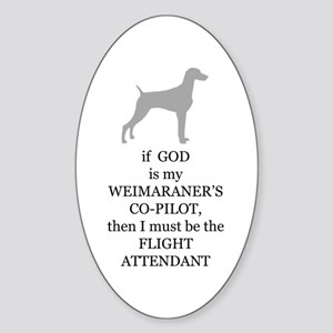 Weim Attendant Oval Sticker