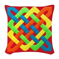 Celtic Knot - Woven Rectangles Woven Throw Pillow