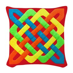 Celtic Knot - Woven Rectangles Woven Throw Pillow