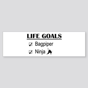 Bagpiper Ninja Life Goals Sticker (Bumper)
