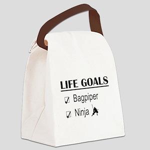 Bagpiper Ninja Life Goals Canvas Lunch Bag