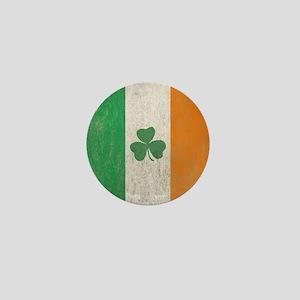 Vintage Irish Shamrock Flag Mini Button