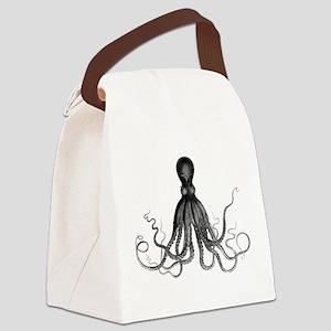 Vintage Octopus Canvas Lunch Bag