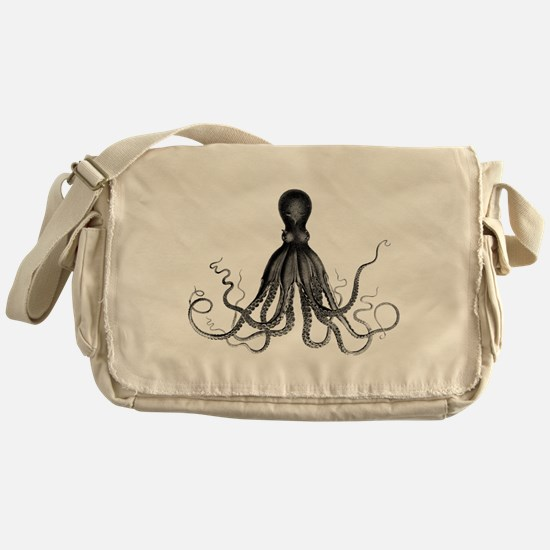 Vintage Octopus Messenger Bag