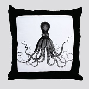 Vintage Octopus Throw Pillow