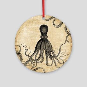 Vintage Octopus Ornament (Round)