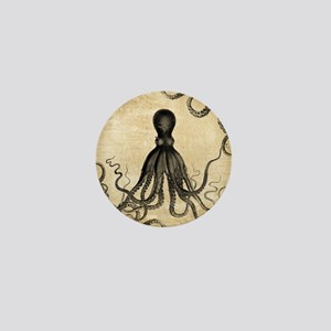 Vintage Octopus Mini Button