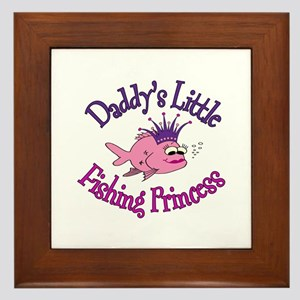 Daddy's Fishing Princess Framed Tile