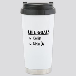 Cellist Ninja Life Goal Stainless Steel Travel Mug