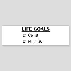 Cellist Ninja Life Goals Sticker (Bumper)