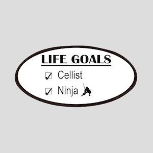 Cellist Ninja Life Goals Patches