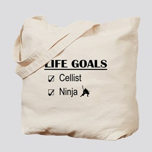 Cellist Ninja Life Goals Tote Bag
