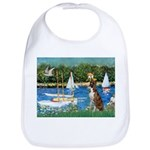 Sailboats & Boxer Bib