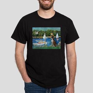 Sailboats & Boxer Dark T-Shirt