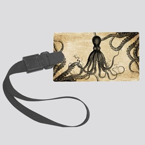 Vintage Octopus Luggage Tag