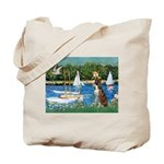 Sailboats & Boxer Tote Bag