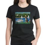 Sailboats & Boxer Women's Dark T-Shirt
