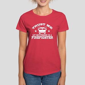 Trust Me My Boyfriend is a Fi Women's Dark T-Shirt